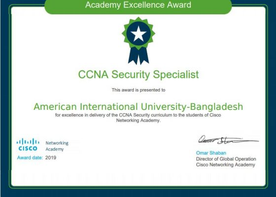 Academy Certificate for Security